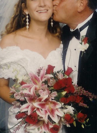 A 20 year old Bride and her Daddy, circa 1993